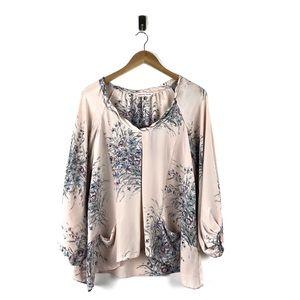 Rebecca Taylor Floral Print Silk Blouse